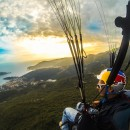 Sunset flying in Budva