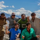 Team with locals Nanga Parbat